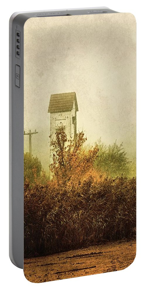 Transformer Portable Battery Charger featuring the photograph Ancient Transformer Tower by Mandy Tabatt