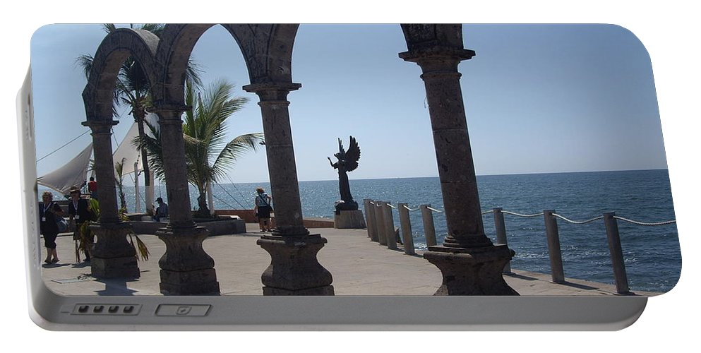 Aimee Mouw Portable Battery Charger featuring the photograph Angel At Puerto Vallarta by Aimee Mouw