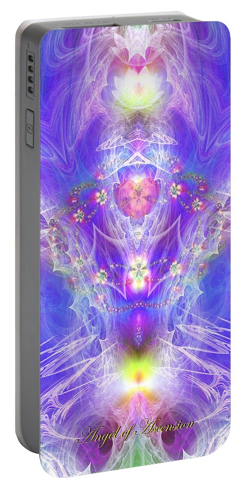 Angel Portable Battery Charger featuring the digital art Angel Of Ascension by Diana Haronis