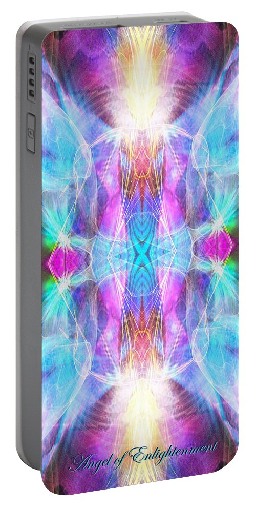 Angel Portable Battery Charger featuring the digital art Angel Of Enlightenment by Diana Haronis