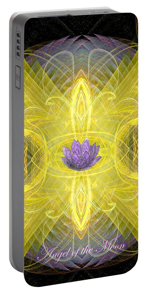 Angel Portable Battery Charger featuring the digital art Angel Of The Moon by Diana Haronis