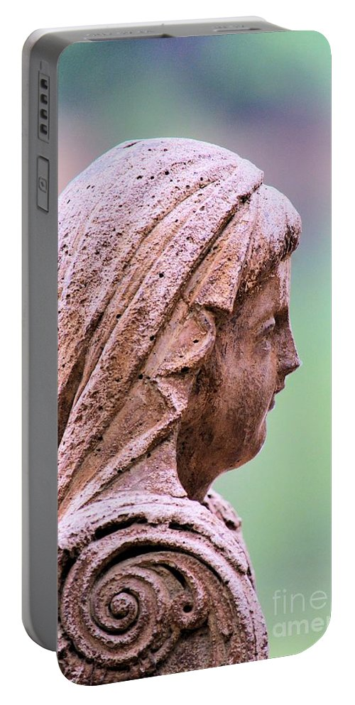 Angel Portable Battery Charger featuring the photograph Angelface by Maria Urso