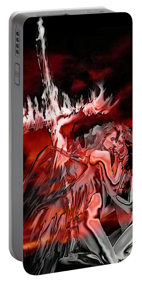Angels Portable Battery Charger featuring the painting Angels Of Lust by Thomas Oliver