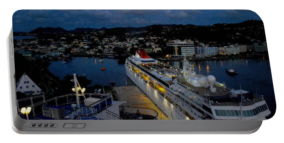 Antigua Portable Battery Charger featuring the photograph Antigua Dusk by Gary Wonning