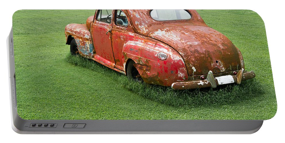 Nostalgia Portable Battery Charger featuring the photograph Antique Ford Car 5 by Douglas Barnett