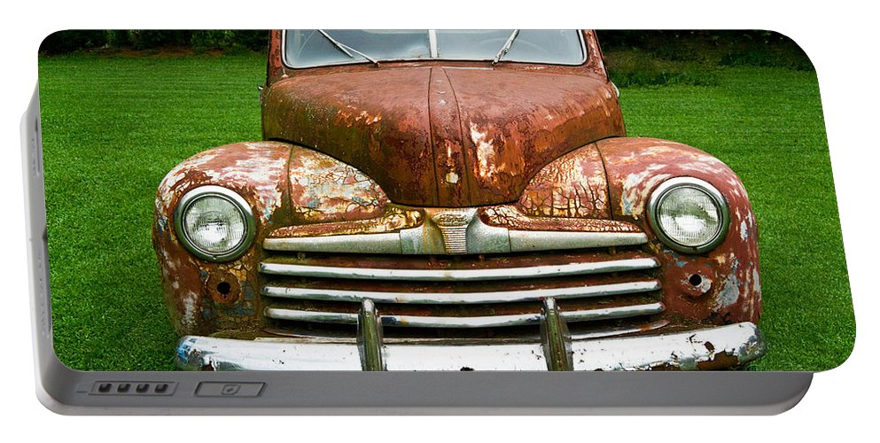 Nostalgia Portable Battery Charger featuring the photograph Antique Ford Car 8 by Douglas Barnett