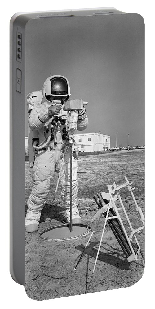 1970 Portable Battery Charger featuring the photograph Apollo 13 Astronaut Walks by Stocktrek Images