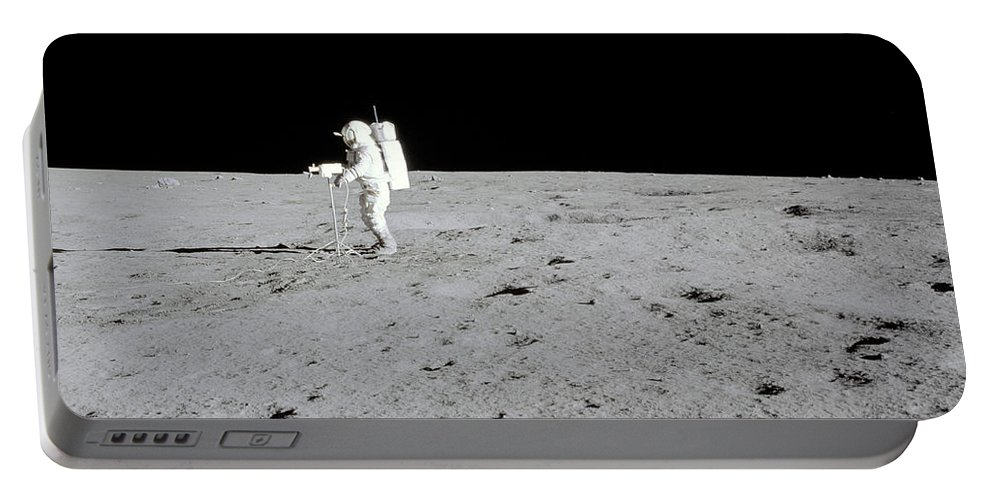 1971 Portable Battery Charger featuring the photograph Apollo 14 Astronaut Makes A Pan by Stocktrek Images