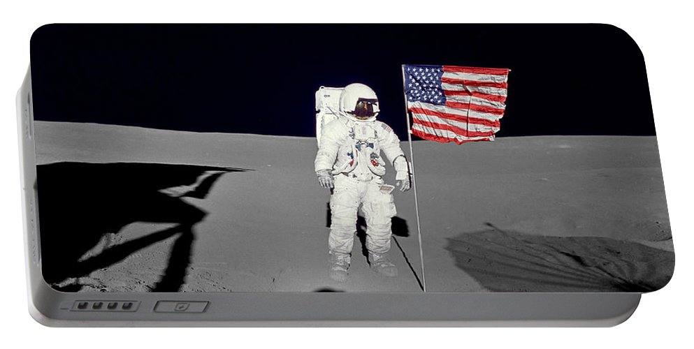 1971 Portable Battery Charger featuring the photograph Apollo 14 Astronaut Stands by Stocktrek Images
