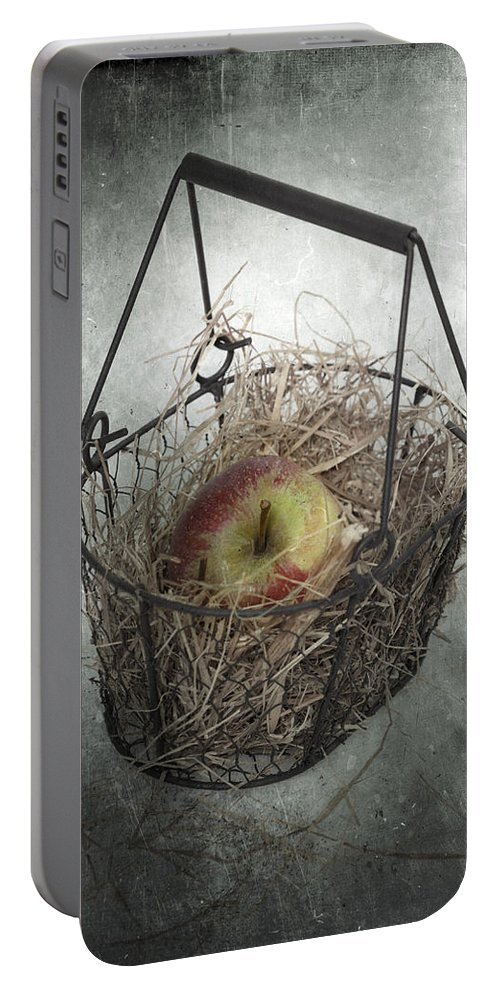 Basket Portable Battery Charger featuring the photograph Apple by Joana Kruse
