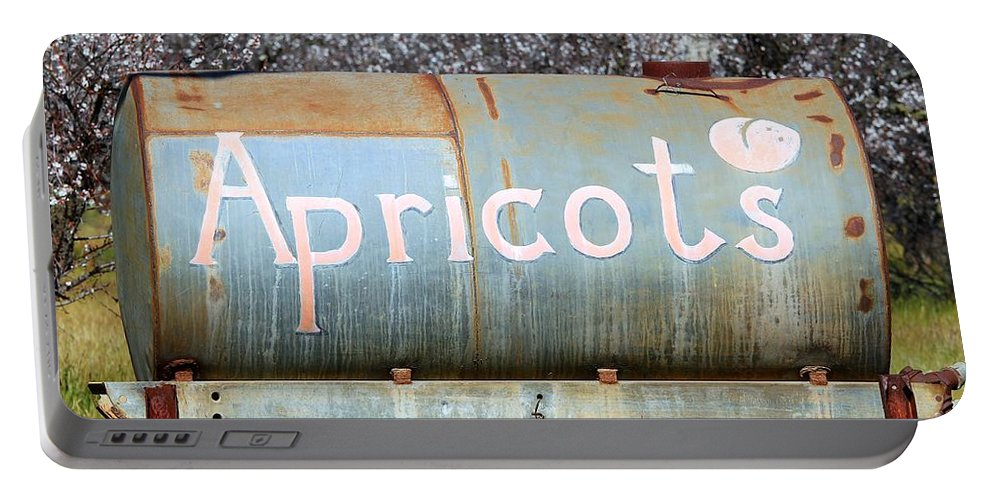 Apricot Portable Battery Charger featuring the photograph Apricots by Henrik Lehnerer
