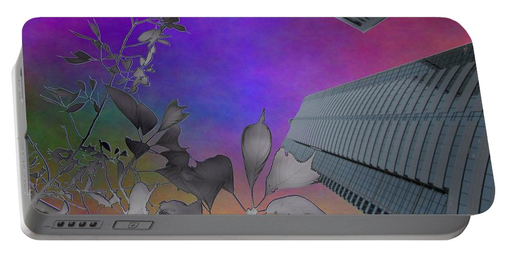 Arbor Portable Battery Charger featuring the digital art Arbor Dreaming by Tim Allen