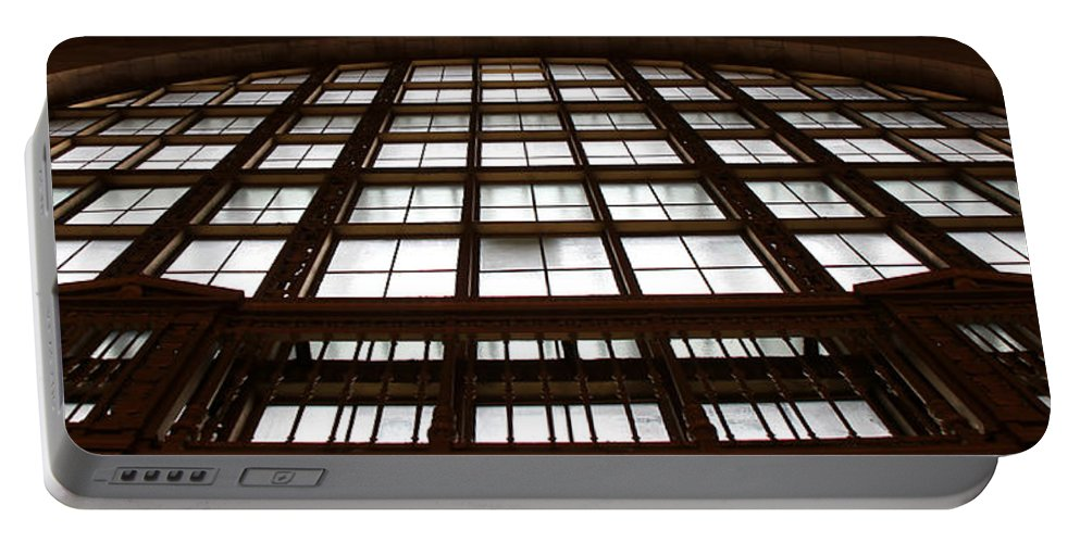 Window Portable Battery Charger featuring the photograph Arched Window by Andrew Fare