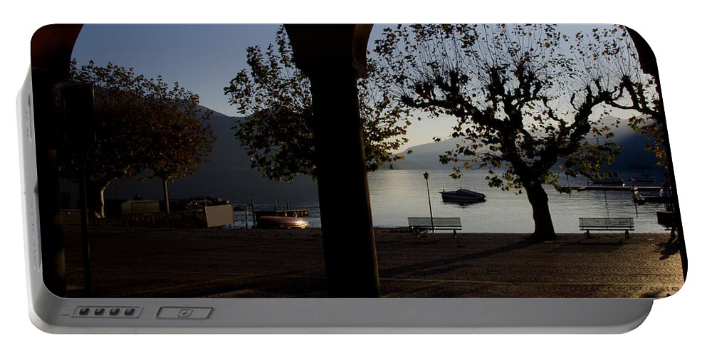 Arch Portable Battery Charger featuring the photograph Archs And Trees by Mats Silvan