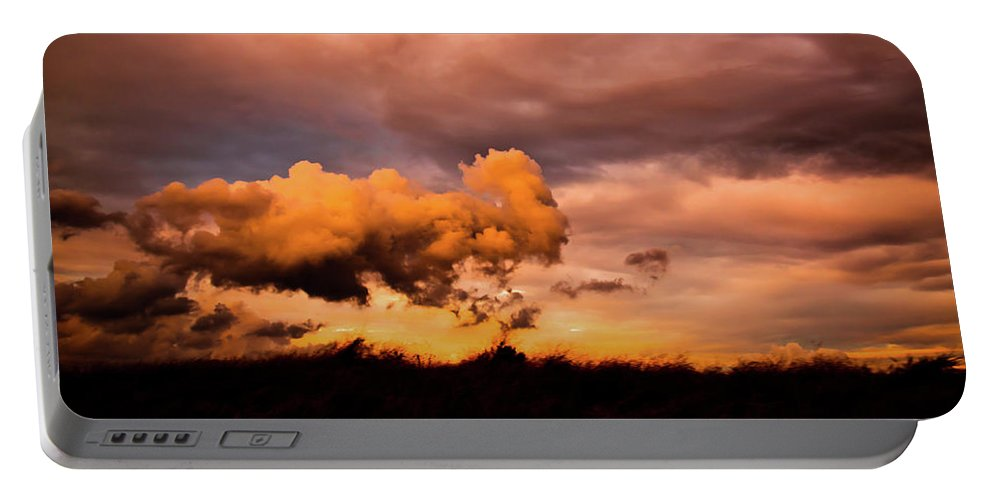 Cloud Portable Battery Charger featuring the photograph Armageddon by Michael Goyberg