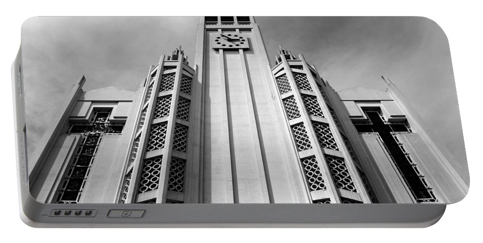 Paris Portable Battery Charger featuring the photograph Art Deco Church by Andrew Fare