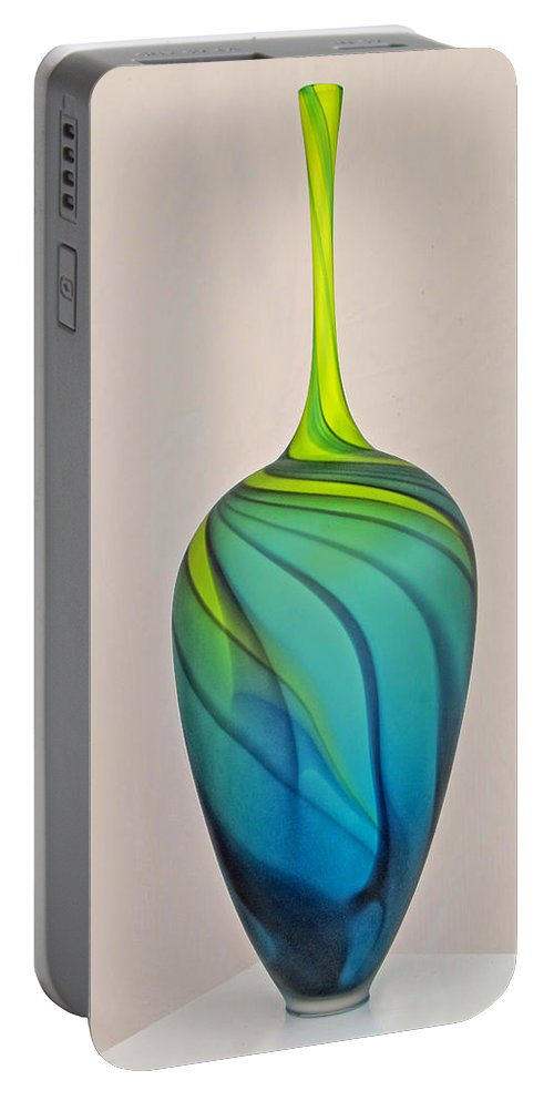 Glass Vase Portable Battery Charger featuring the photograph Art Glass by Dave Mills