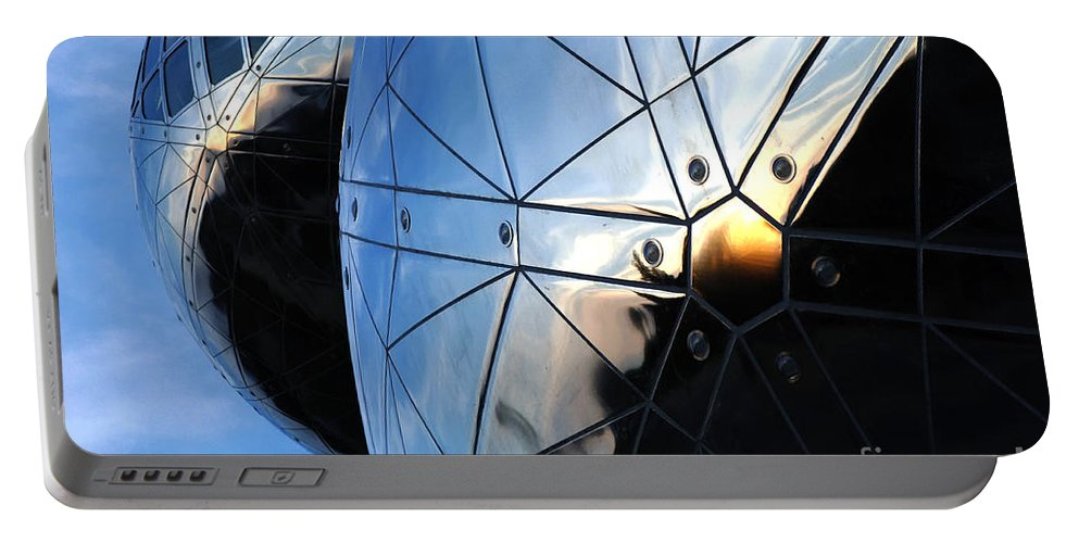 Art Portable Battery Charger featuring the photograph Art In Architecture 5 by Bob Christopher