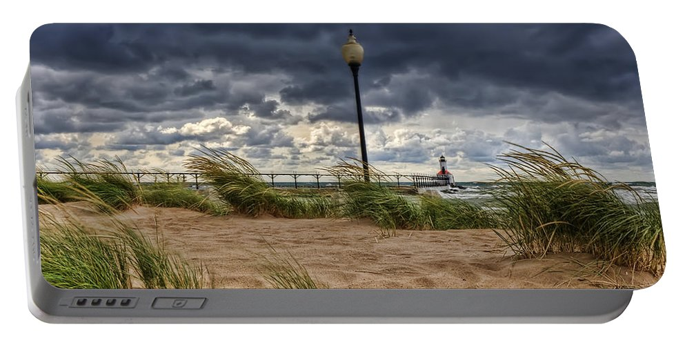 Storm Portable Battery Charger featuring the photograph As The Storms Roll Through 2 by Scott Wood