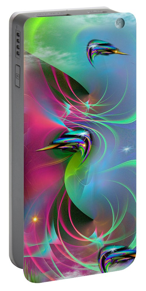 Phil Sadler Ascension Portable Battery Charger featuring the digital art Ascention by Phil Sadler