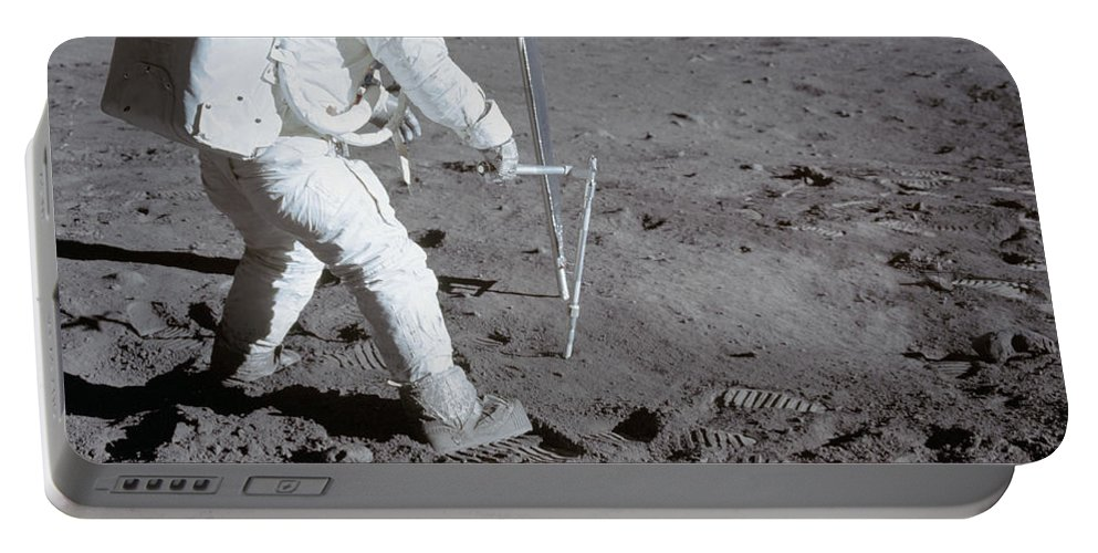 1969 Portable Battery Charger featuring the photograph Astronaut During Apollo 11 by Stocktrek Images