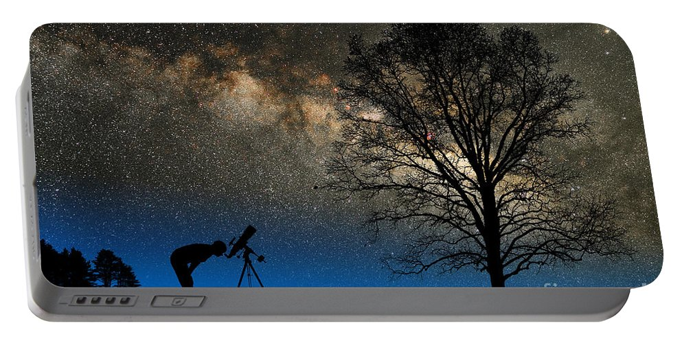 Astronomy Portable Battery Charger featuring the photograph Astronomy by Larry Landolfi and Photo Researchers