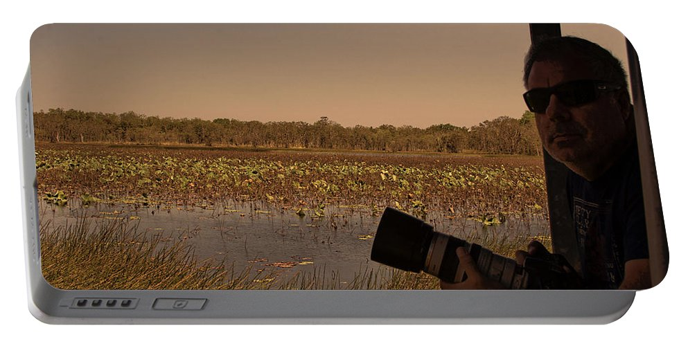 Mistake Billabong Portable Battery Charger featuring the photograph At Mistake Billabong Kakadu National Park by Douglas Barnard