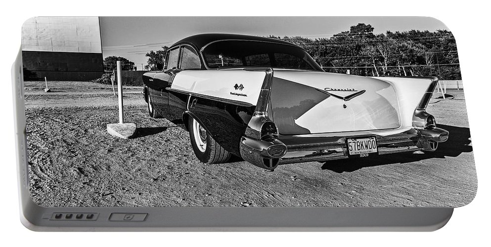 Cj Schmit Portable Battery Charger featuring the photograph At The Drive-in by CJ Schmit