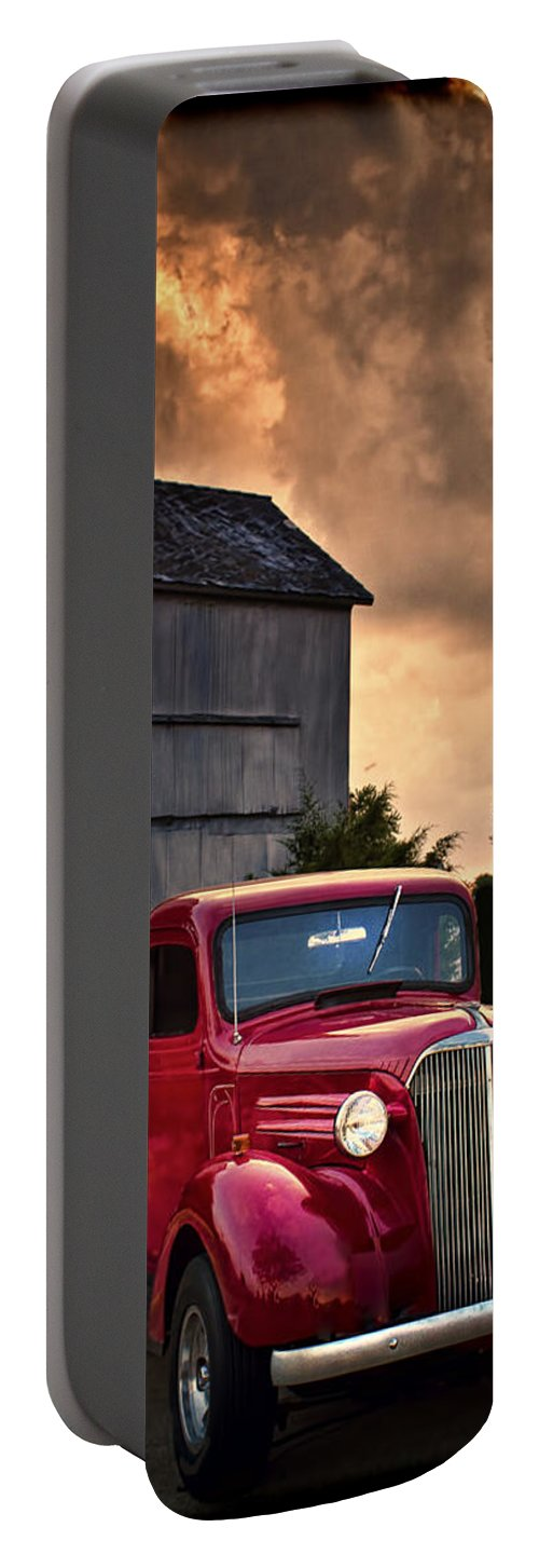 Grain Elevator Portable Battery Charger featuring the photograph At The Grain Elevator by Straublund Photography