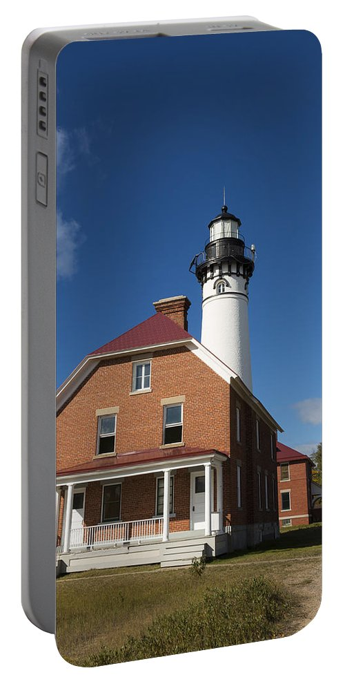 Au Sable Portable Battery Charger featuring the photograph Au Sable Lighthouse 7 by John Brueske