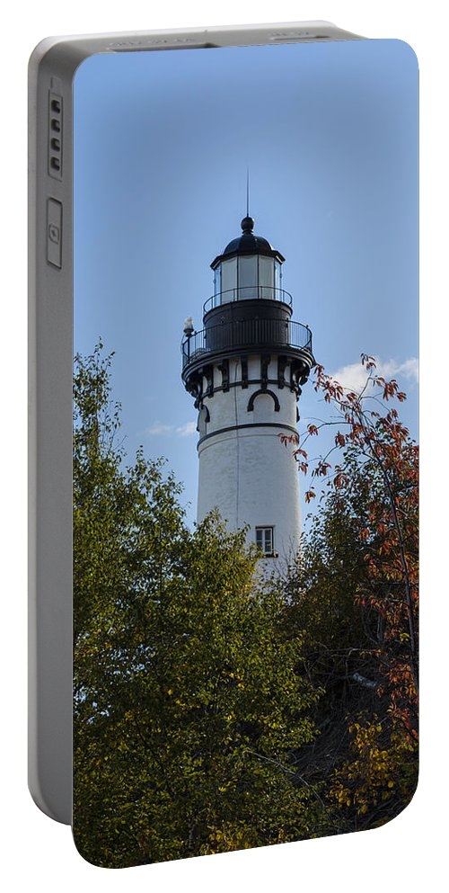 Au Sable Portable Battery Charger featuring the photograph Au Sable Lighthouse 8 by John Brueske