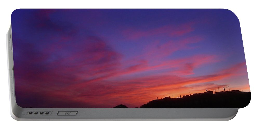 Sunset Portable Battery Charger featuring the photograph August 26 2008 by Mark Gilman