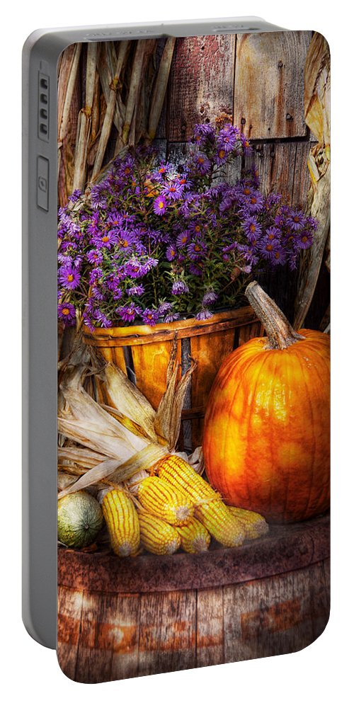 Autumn Portable Battery Charger featuring the photograph Autumn - Autumn Is Festive by Mike Savad