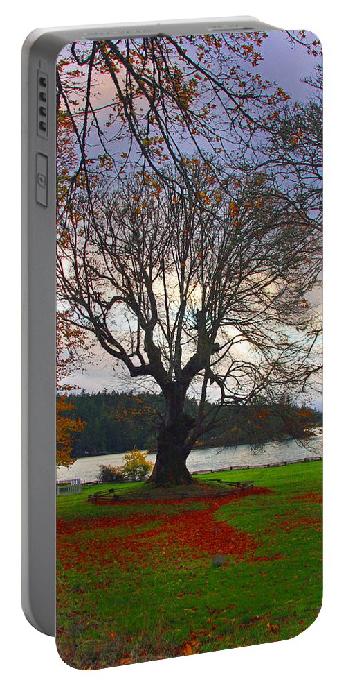British Camp Framed Prints Portable Battery Charger featuring the photograph Autumn At British Camp by Marie Jamieson