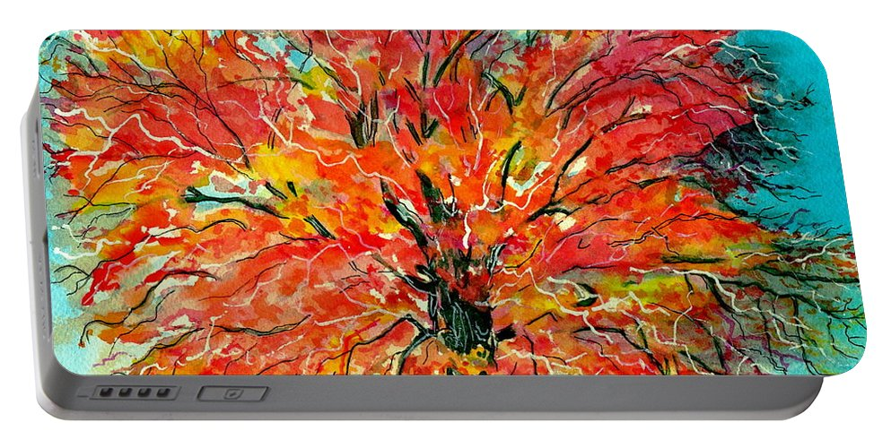 Watercolor Portable Battery Charger featuring the painting Autumn Beauty by Brenda Owen
