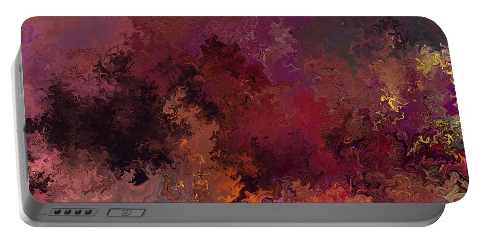 Fine Art Portable Battery Charger featuring the digital art Autumn Illusions by David Lane