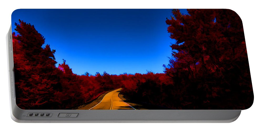 Autumn Red Portable Battery Charger featuring the photograph Autumn Red by Douglas Barnard