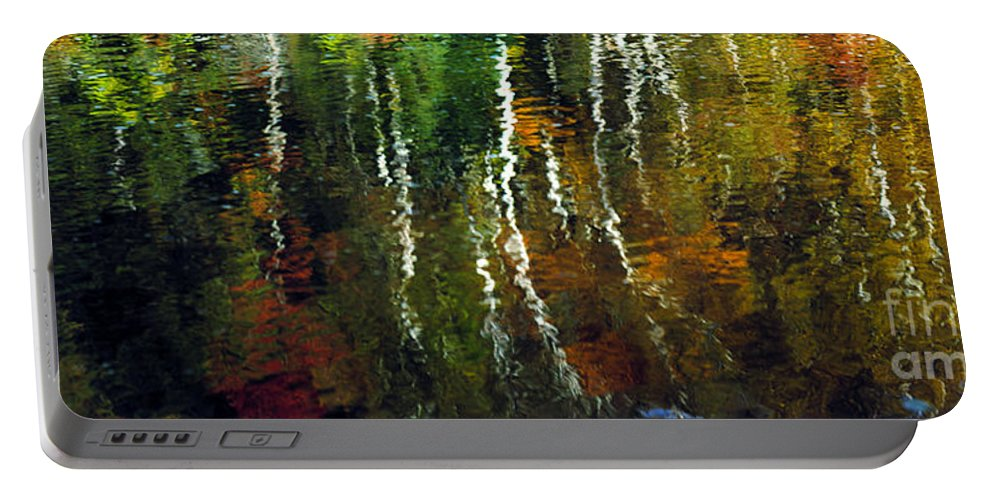 Autumn Portable Battery Charger featuring the photograph Autumn Reflections 1 by Mike Nellums