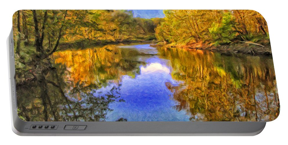 Autumn Portable Battery Charger featuring the painting Autumn Reflections by Dominic Piperata