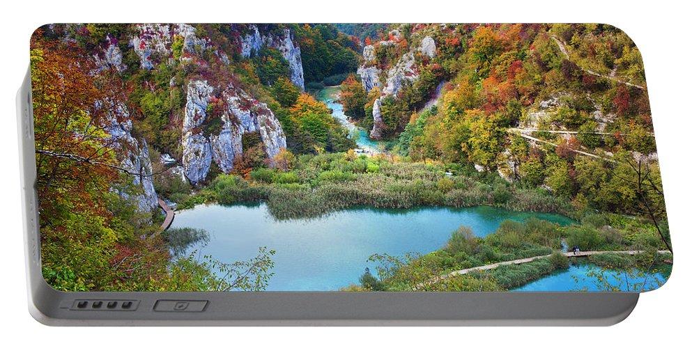 Water Portable Battery Charger featuring the photograph Autumn Valley Landscape by Artur Bogacki