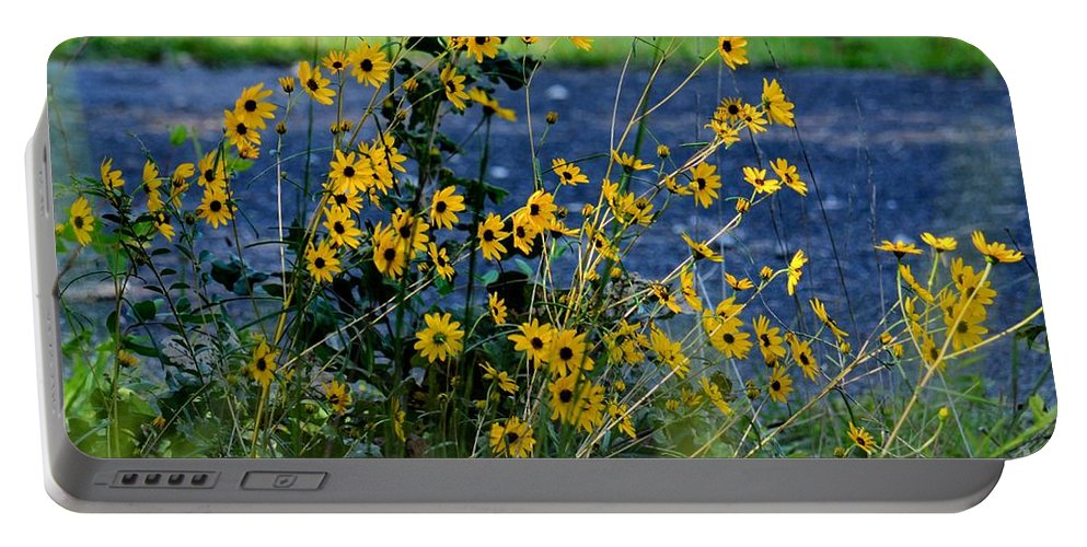 Autumns Gold At The Lake Portable Battery Charger featuring the photograph Autumn's Gold At The Lake by Maria Urso