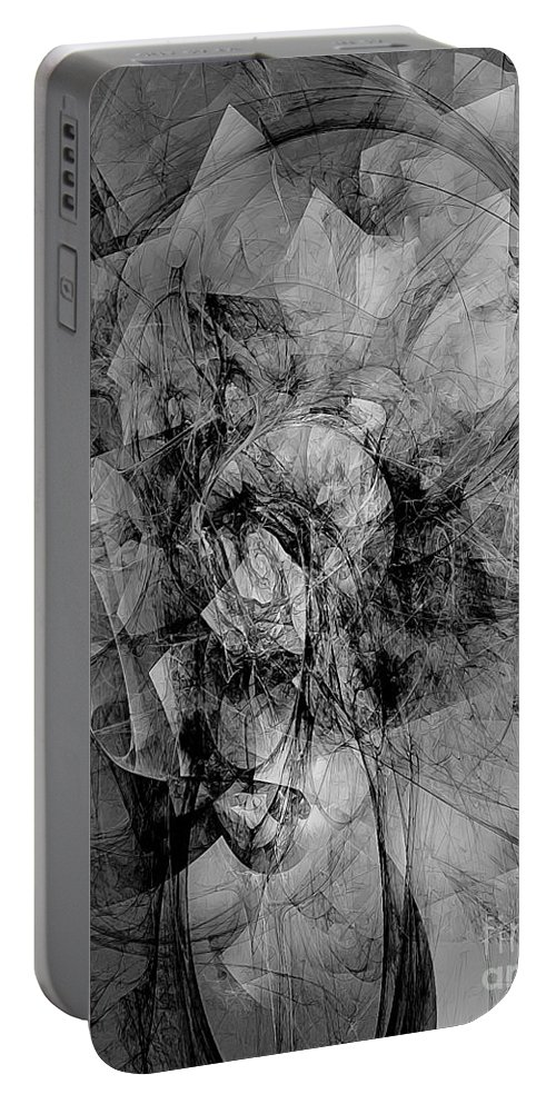 Graphics Portable Battery Charger featuring the digital art B-w 0561 by Marek Lutek