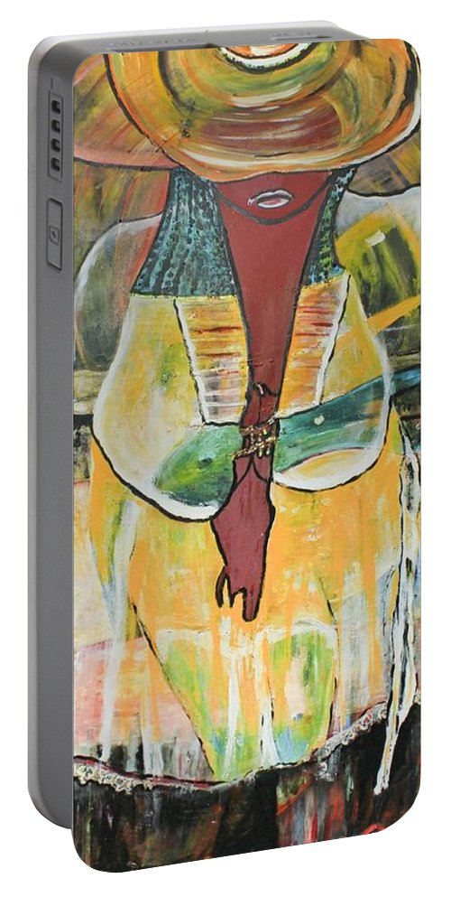 Figurative Portable Battery Charger featuring the painting Baby Girl II by Peggy Blood
