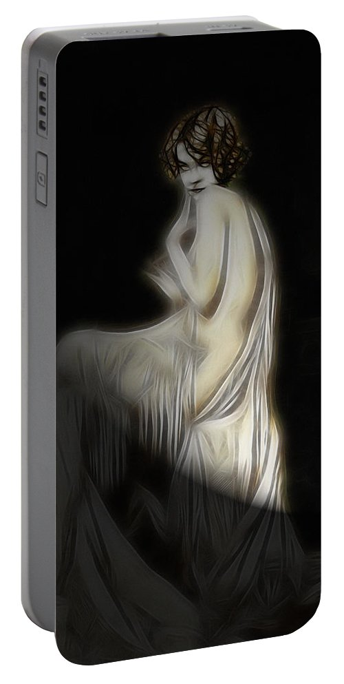 Portable Battery Charger featuring the digital art Back To The Twenties by Steve K