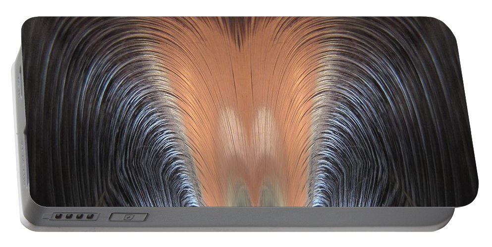 Abstract Portable Battery Charger featuring the digital art Bad Hair Day by Tim Allen