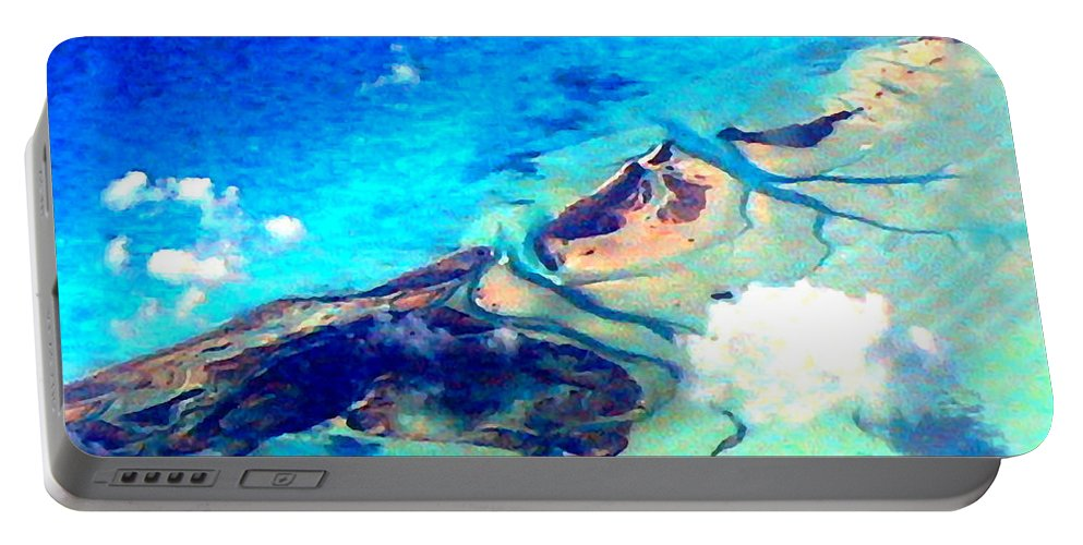 Bahamas Portable Battery Charger featuring the photograph Bahama Out Island Filtered by Duane McCullough