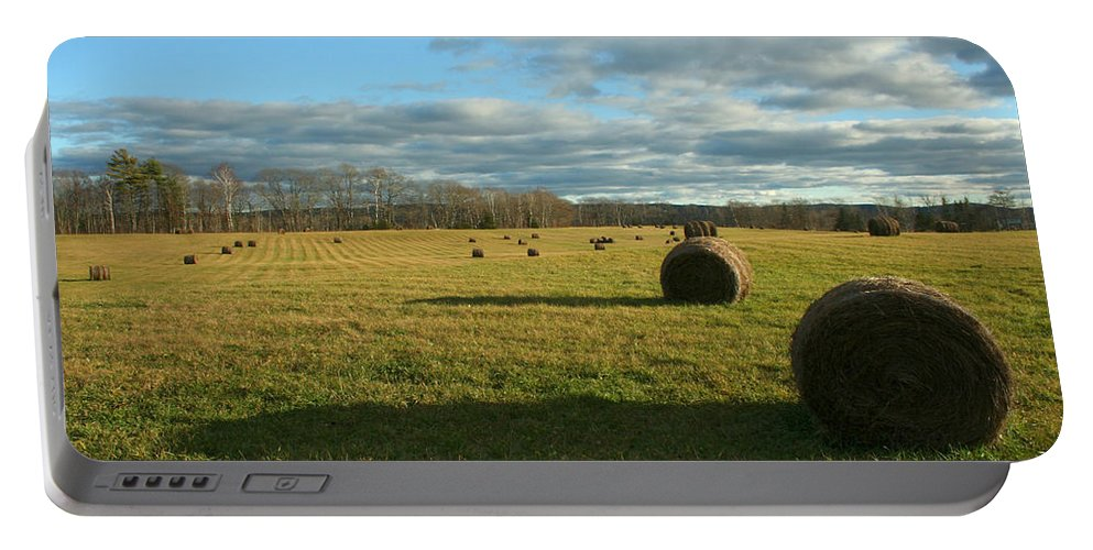 Hay Portable Battery Charger featuring the photograph Bales II by Jeff Galbraith