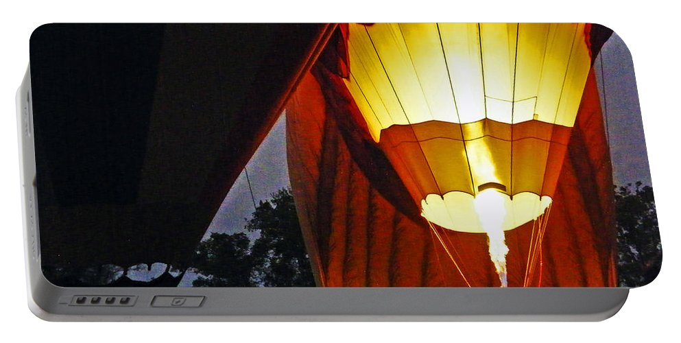 Ascension Balloon Fest Portable Battery Charger featuring the photograph Balloon Glow by Lizi Beard-Ward