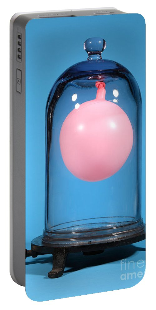 Vacuum Portable Battery Charger featuring the photograph Balloon In A Vacuum, 2 Of 4 by Ted Kinsman