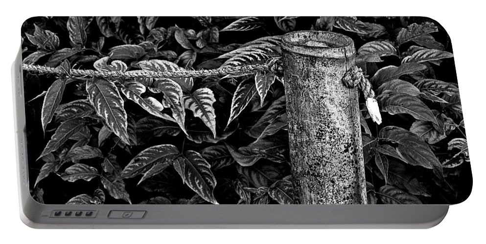 Fence And Rope Portable Battery Charger featuring the photograph Bamboo Border by Burney Lieberman
